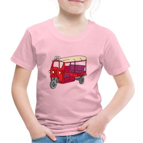 Rote Autorikscha, Tuk-tuk - Kinder Premium T-Shirt