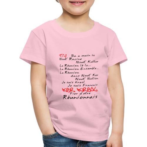 Kosement kreol - 974 La Réunion - T-shirt Premium Enfant