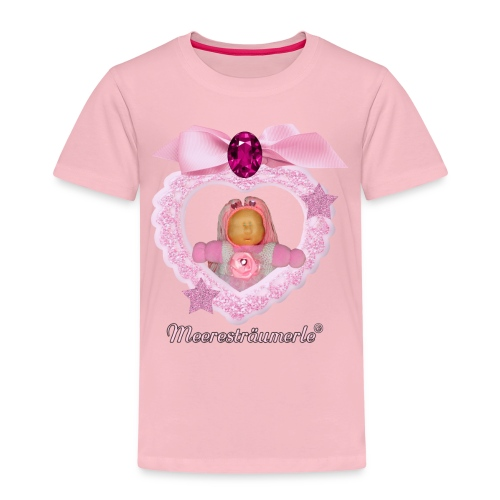 Meerestraeumerle Prinzessin in rosa Herz - Kinder Premium T-Shirt