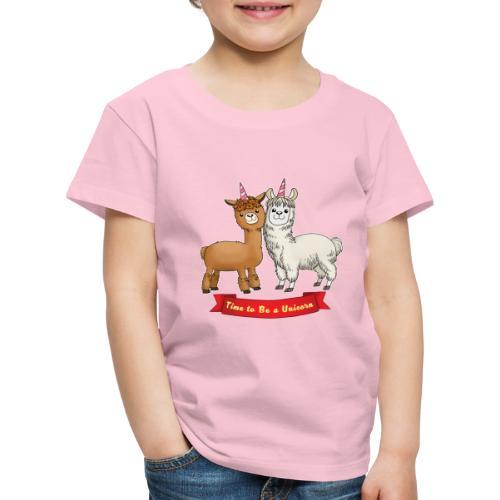 Time to Be a Unicorn 12x14 CMYK - Kinder Premium T-Shirt