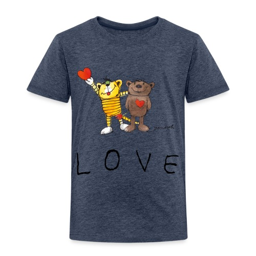 Janosch LOVE Schiftzug Tiger und Bär - Kinder Premium T-Shirt