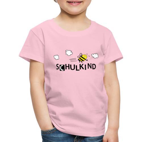 Schulkind Biene - Kinder Premium T-Shirt