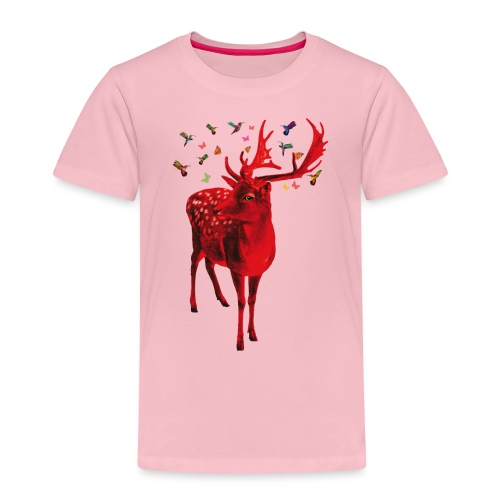 01 Schicker Hirsch rot Hirschgeweih - Kinder Premium T-Shirt