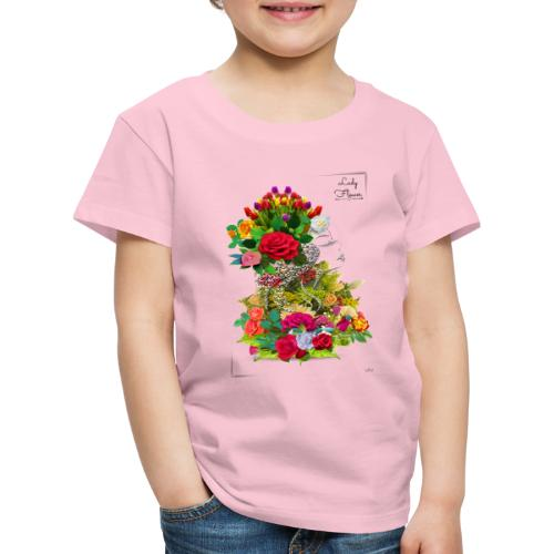 Lady flower -by- T-shirt chic et choc - T-shirt Premium Enfant