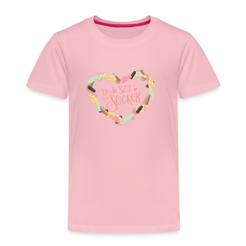 Söt som socker - Godis hjärta - Premium-T-shirt barn