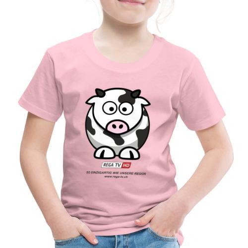 REGA-TV: Kuh, schwarzer Text - Kinder Premium T-Shirt