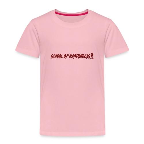 school of hardknocks ver 0 1 red - Børne premium T-shirt