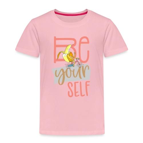 Glückliche & Sportliche Banane - Be always you - Kinder Premium T-Shirt