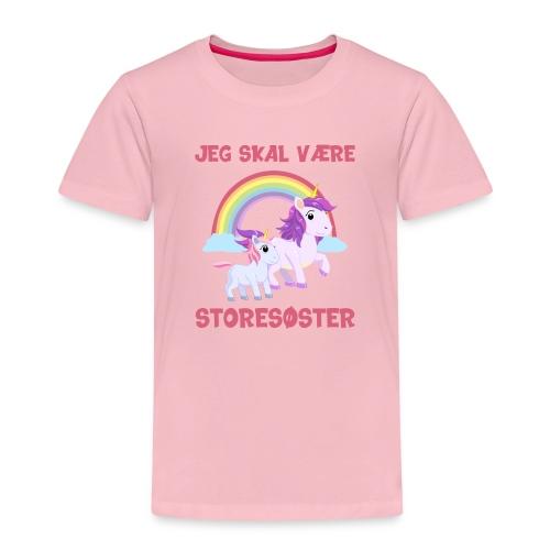 Jeg skal være storesøster enhjørning gave fødsel - Børne premium T-shirt