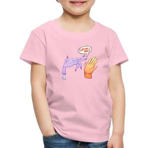 Monstrous witch's hand asking for glove - Kids' Premium T-Shirt