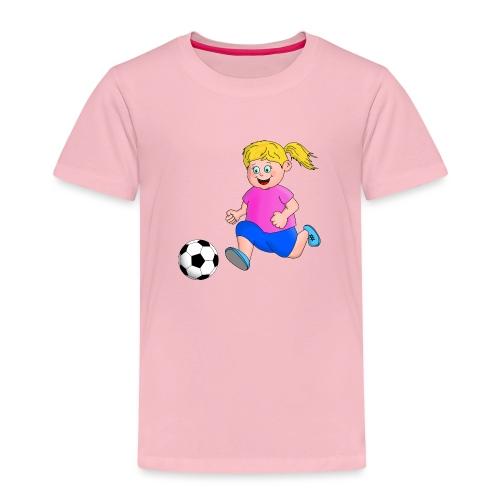Fußball Mädchen - Kinder Premium T-Shirt