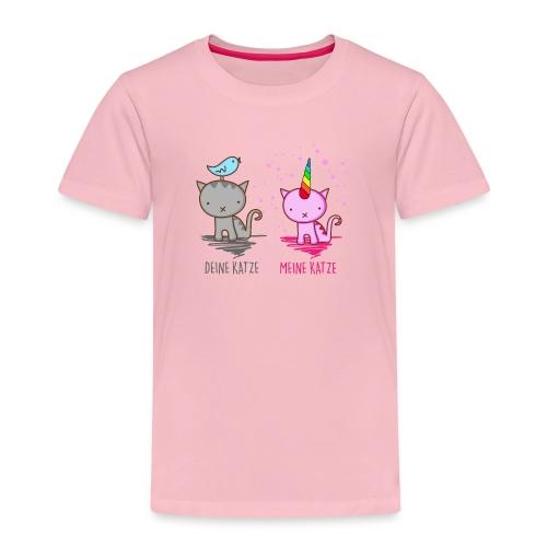 Vorschau: Deine Katze vs. Meine Katze - Kinder Premium T-Shirt