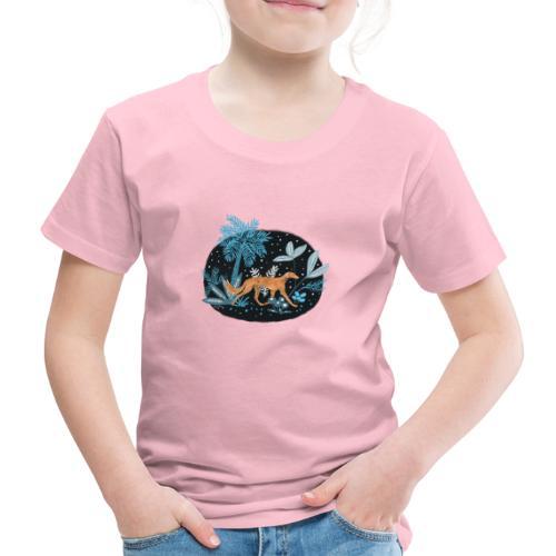 Saluki im Tropenwald - Kinder Premium T-Shirt