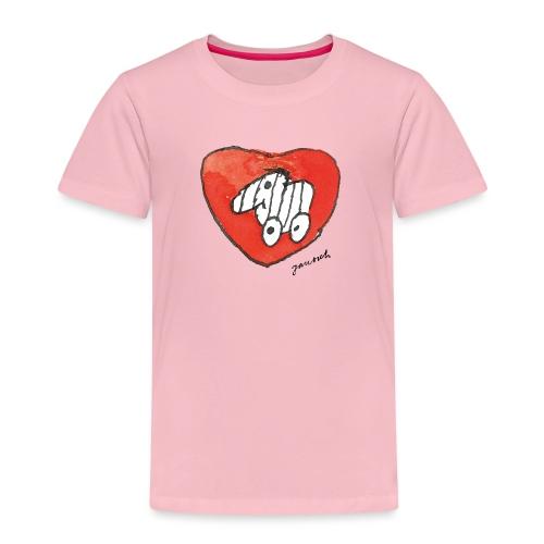 Janosch Tigerente Großes Rotes Herz - Kinder Premium T-Shirt