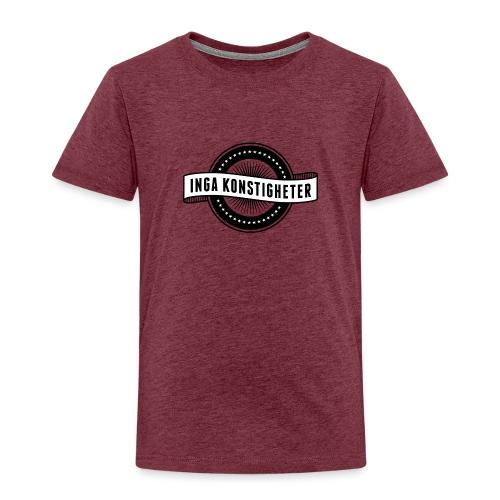 Inga Konstigheters klassiska logga (ljus) - Premium-T-shirt barn