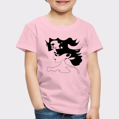LINEART ALLES WIRD GUT FRAU ILLUSTRATION Line Art - Kinder Premium T-Shirt