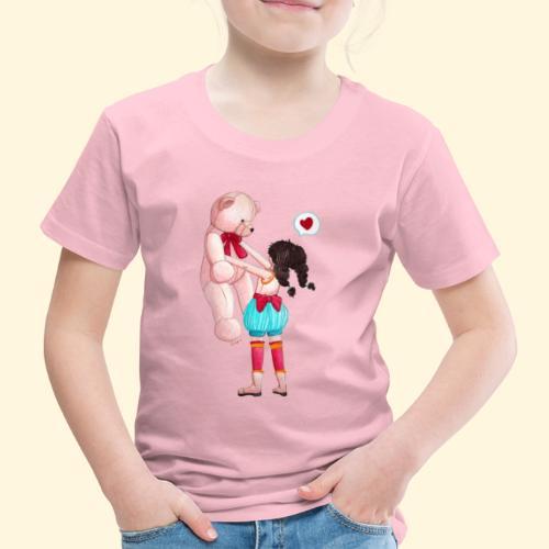 Fille au Nounours géant - T-shirt Premium Enfant