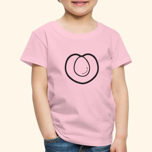 fruits and veggies icons peach 512 - Børne premium T-shirt