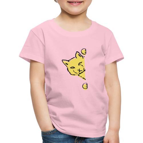 En gul katt - Premium-T-shirt barn