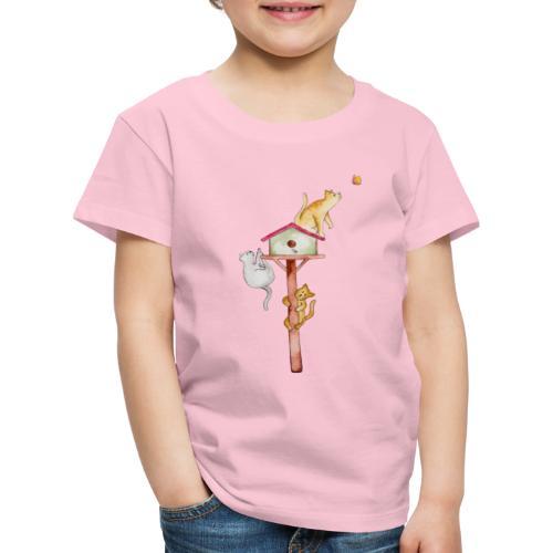 Kätzchen auf dem Dach - Kinder Premium T-Shirt