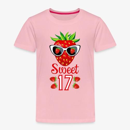 02 Sweet 17 Erdbeere Sonnenbrille Geburtstag - Kinder Premium T-Shirt