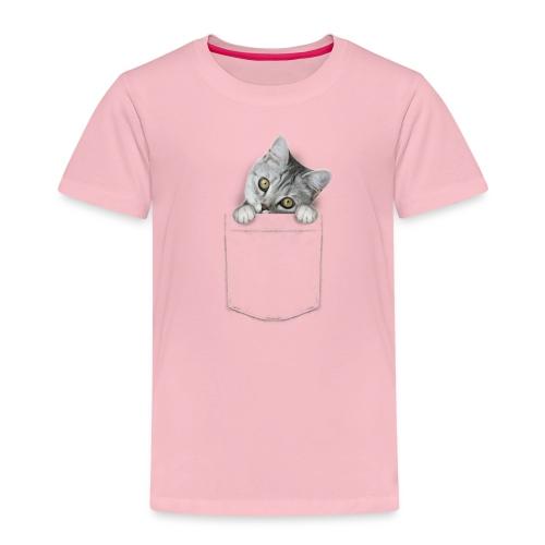 Vorschau: cat pocket - Kinder Premium T-Shirt