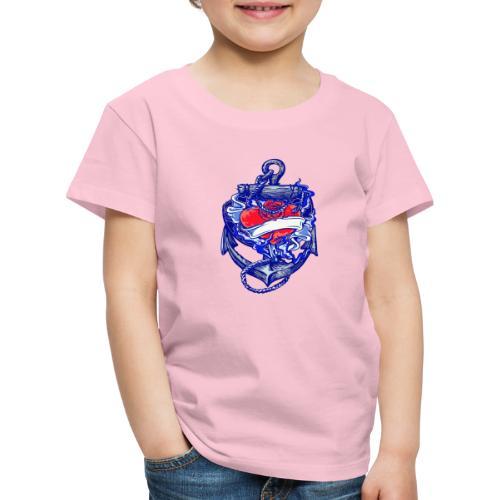 Seemanns Look Ankerherz - Kinder Premium T-Shirt