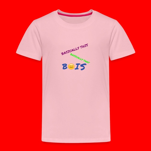 BASICALLY THIS BASICALLY THAT ZEPPLIN Design - Kids' Premium T-Shirt