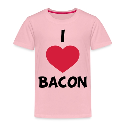 I love bacon - Børne premium T-shirt
