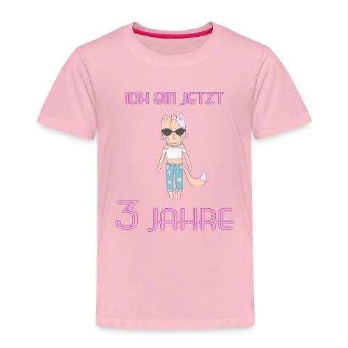 Ich bin jetzt 3 Jahre / Geschenk zum 3. Geburtstag - Kinder Premium T-Shirt