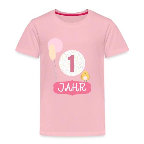 1 Jahr. Das Geburtstag T-Shirt zum 1. Geburtstag. - Kinder Premium T-Shirt