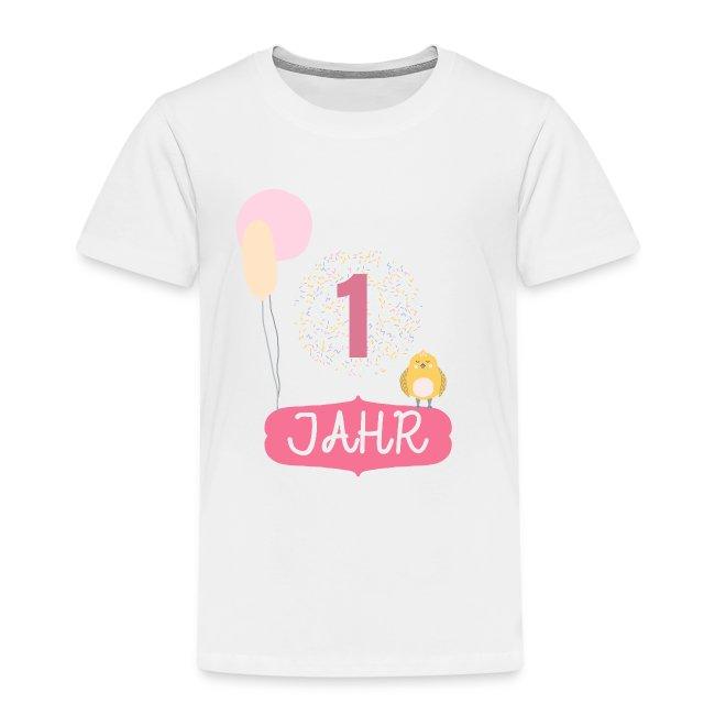 1 Jahr. Das Geburtstag T-Shirt zum 1. Geburtstag.