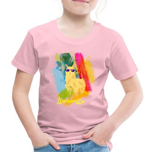 Coole gelbe Llama mit Sonnenbrillen T-Shirt - Kinder Premium T-Shirt