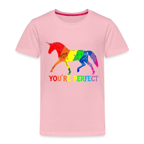 Regenbogen Einhorn - You´re perfect - Kinder Premium T-Shirt