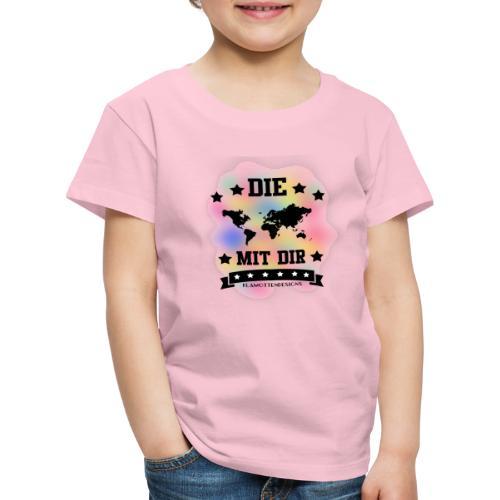Die Welt mit dir bunt weiss - Klamottendesigns - Kinder Premium T-Shirt