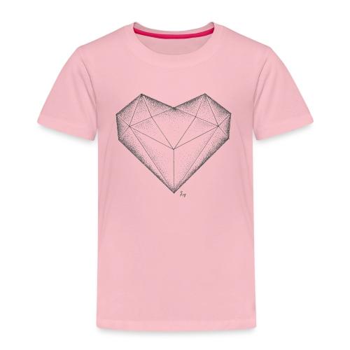 Herz Diamant - Kinder Premium T-Shirt
