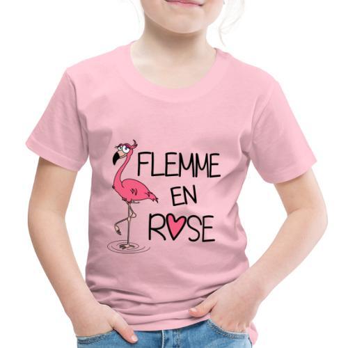 Flamant Rose / Flemme en Rose - T-shirt Premium Enfant