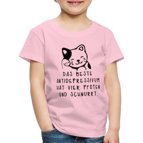 Katzen sind das beste Antidepressivum - Kinder Premium T-Shirt
