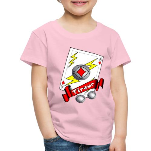 t shirt petanque tireur as du carreau boules - T-shirt Premium Enfant