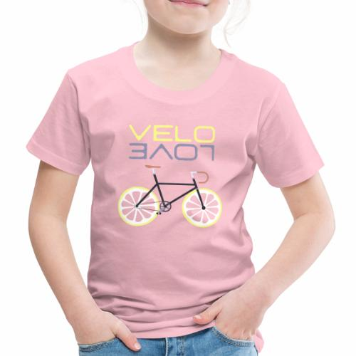 Lemon Bike - Velo Love Shirt Rennradfahrer Shirt - Kinder Premium T-Shirt