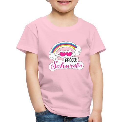 Große Schwester Regenbogen - Kinder Premium T-Shirt