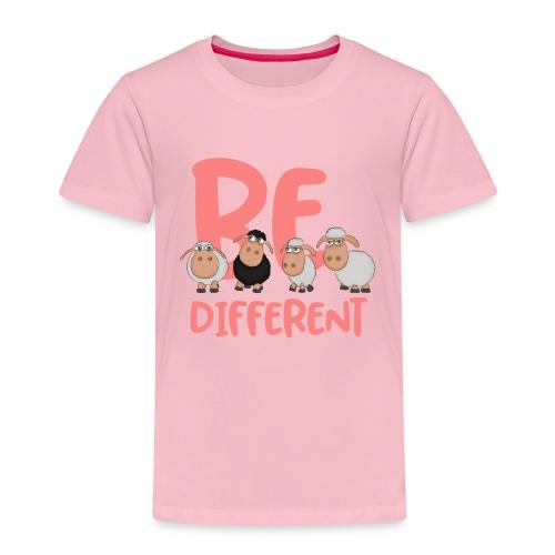 Be different pinke Schafe - Einzigartige Schafe - Kinder Premium T-Shirt