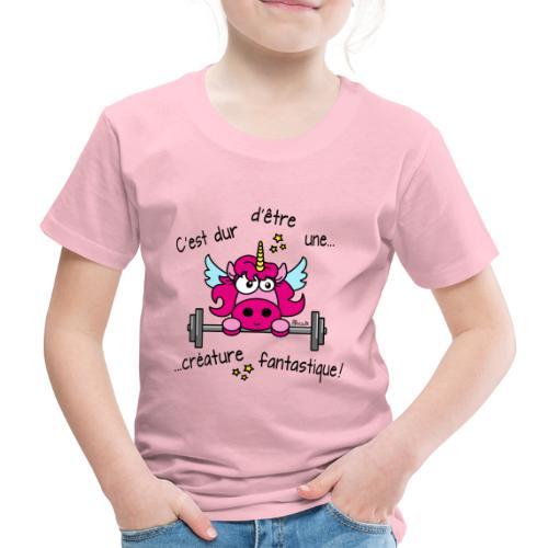 Licorne Muscu Créature Fantastique - T-shirt Premium Enfant