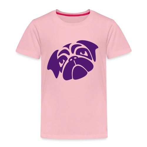 Mops mit schiefen Gesicht - Kinder Premium T-Shirt