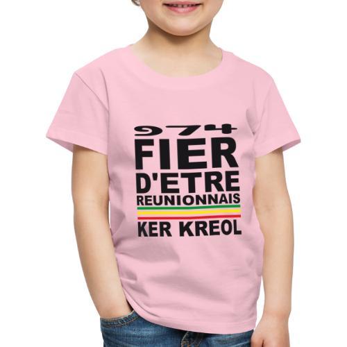 974 Fier d'être Réunionnais - 974 Ker Kreol v1.2 - T-shirt Premium Enfant