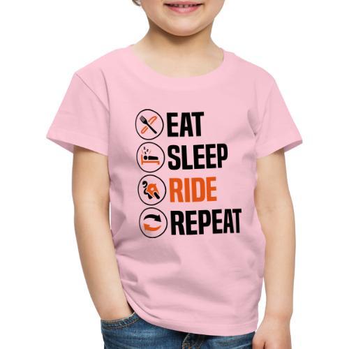 eat sleep ride repeat sportsbike 2col - Kids' Premium T-Shirt