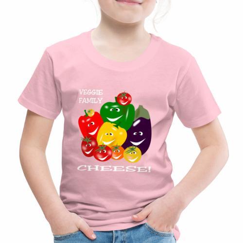 Veggie Family - Cheese! - Kids' Premium T-Shirt