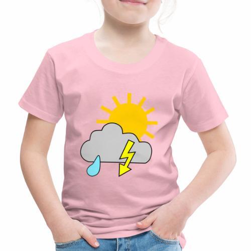 Sun - rain - thunderstorm - Kids' Premium T-Shirt