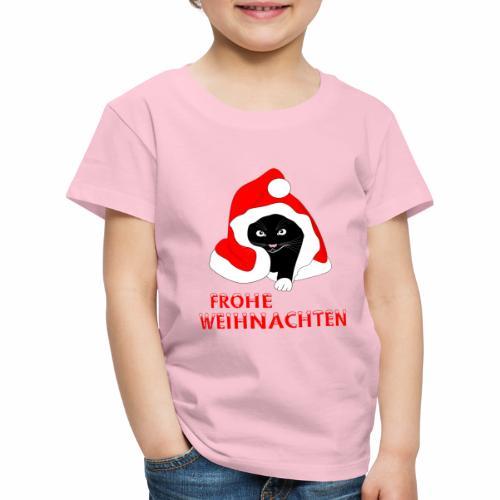 Frohe Weihnachten - Schwarze Katze - T-shirt Premium Enfant