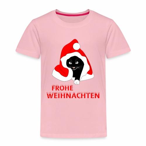 Frohe Weihnachten - Schwarze Katze - Kids' Premium T-Shirt